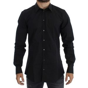 Dolce & Gabbana D10359-1 Black Slim Casual Shirt